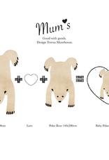 """Wollteppich """"Baby Polarbär"""" naturfarben 90x120 cm"""