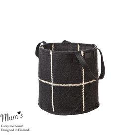 MUM'S / Panier noir/blanc 30x30 cm
