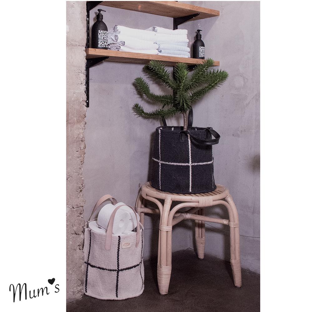 Basket black/white 30x30 cm