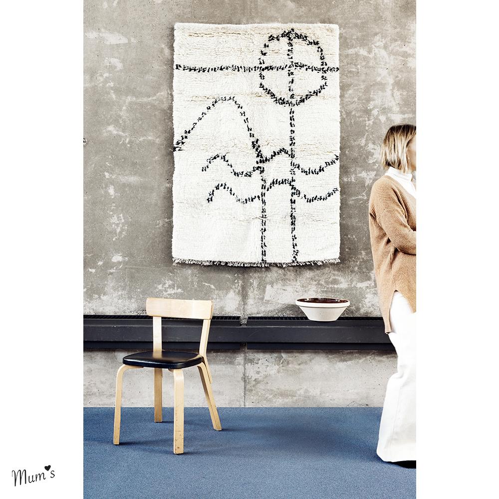 Woollen wall rug 100x104 cm