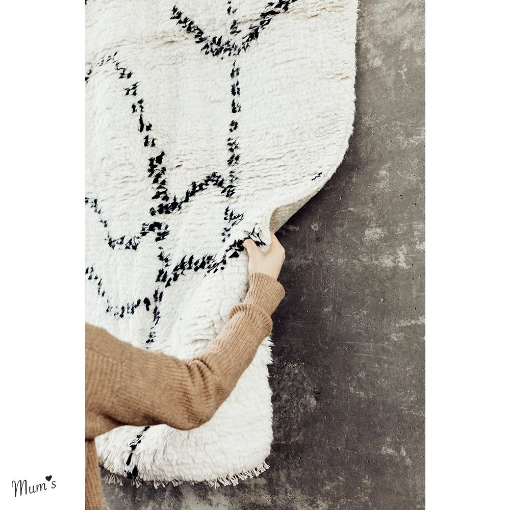 Wanddekoration 100x104 cm aus Recycling Baumwolle