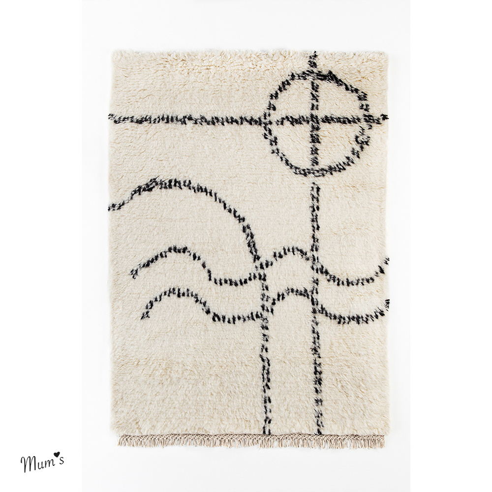 Wall rug 100x104 cm made of recycled cotton