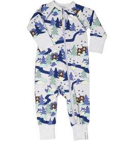 "GEGGAMOJA / Baby Bamboo Pyjama ""Grey Forest"""