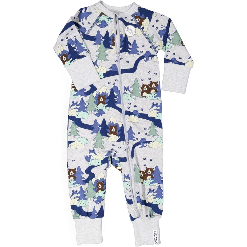 "Baby Bamboo Pyjama ""Grey Forest"""