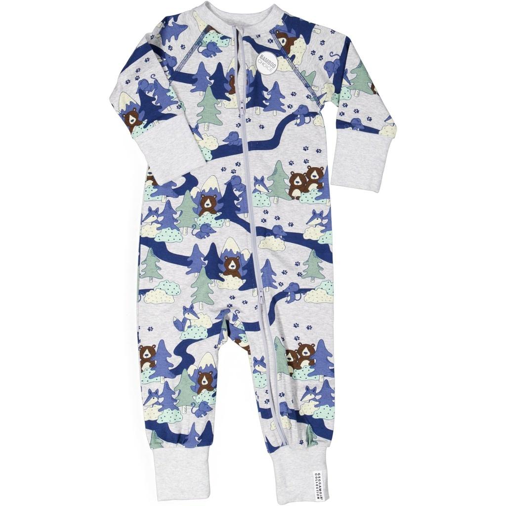 "Baby Bambus Pyjama ""Grey Forest"""