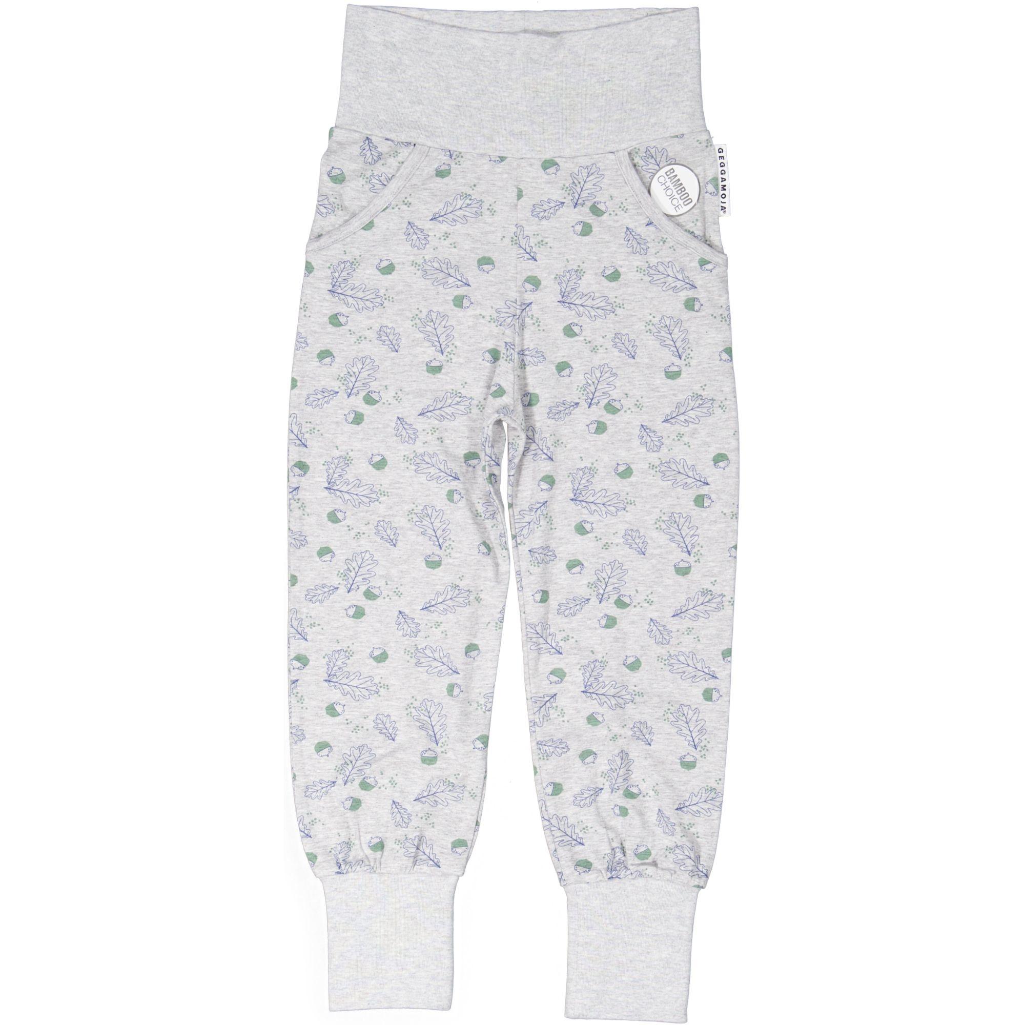 "Baby Bamboo Pants ""Grey Mel Oak"""