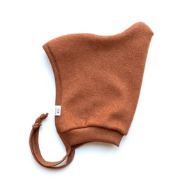 SLEEPY FOX / Baby fleece hat in Copper Marl