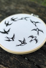 """Embroidery art """"Keep Flying"""""""