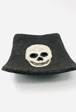 """Seifenschale """"Skull"""" schwarz/weiss"""