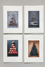 "Greeting cards set of 4 ""Christmas tree"""