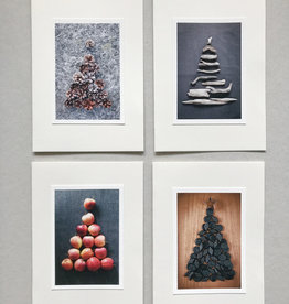"SANNA HEIKINTALO / Greeting cards set of 4 ""Christmas tree"""