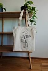 "Tote bag ecru colour ""NeverLeaveYourBuddy"""