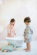 Kinder Bademantel aquafarben