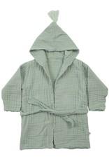 Kids bathrobe aqua-coloured