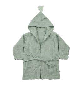 OrganicEra / Kids bathrobe aqua-coloured