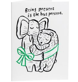 "CupOfTherapy / Greeting card ""Being present"""