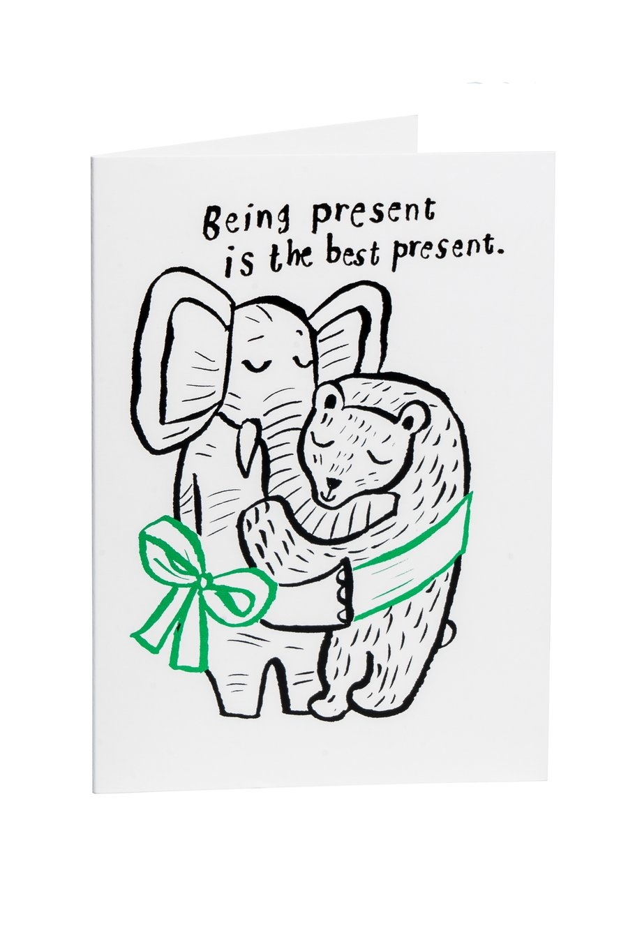 """Grusskarte """"Being present"""""""