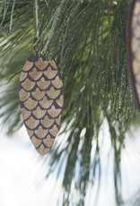 Cone deco for Christmas black/gold