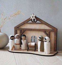 PAPURINO / Weihnachtskrippe aus Holz