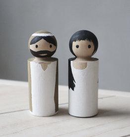 PAPURINO / Maria und Josef für die Weihnachtskrippe