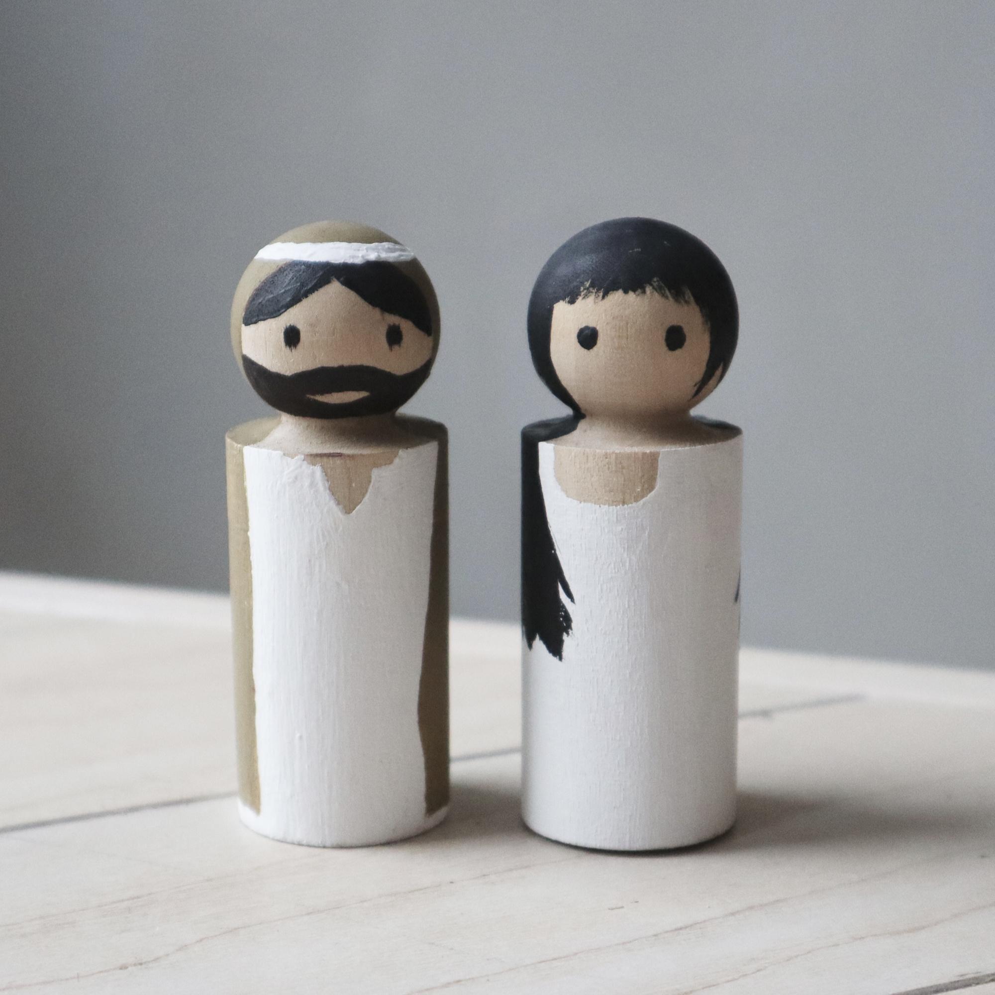 Maria und Josef für die Weihnachtskrippe