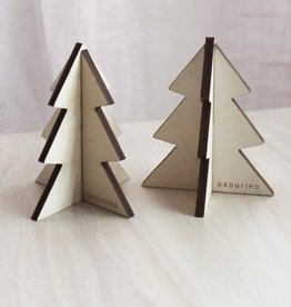 PAPURINO / Set of 2 Christmas tree natural colour