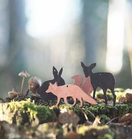 PAPURINO / Fuchs-Holzdeko rotfarben für Weihnachten