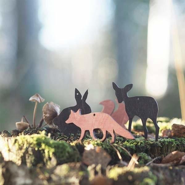 Fuchs-Holzdeko rotfarben