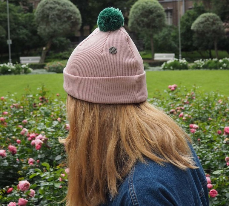 ONE SIZE Beanie rose for adults