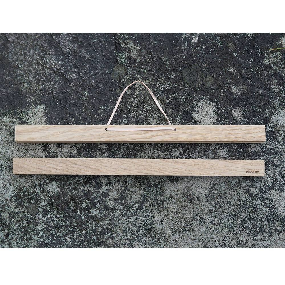 Magnetische Posterleiste 31 cm aus Eiche
