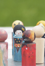 Paintable figures from birch wood