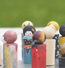 PAPURINO / Figures à peindre en bois de bouleau