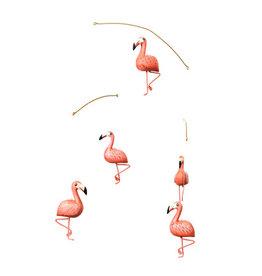 """GEGGAMOJA / Holz-Mobile """"Flamingo"""" handgemacht"""