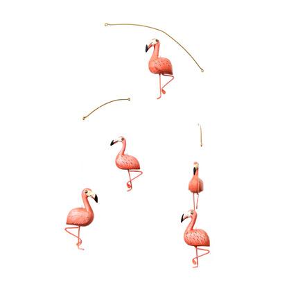 "Holz-Mobile ""Flamingo"" handgemacht"