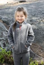 Kinder Fleecejacke aus Merinowolle graufarben