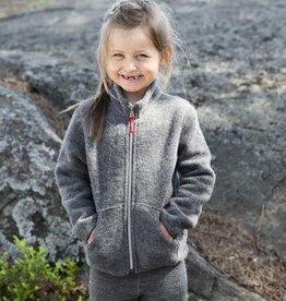 RUSKOVILLA / Kinder Fleecejacke aus Merinowolle graufarben
