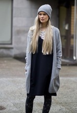 One-size merino Cardigan in grey colours
