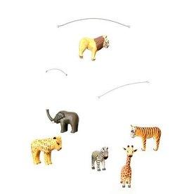 "GEGGAMOJA / Wooden mobile ""Safari Animals"" handmade"
