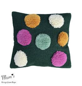 "MUM'S / Wool pillow case ""Rainbow mix"" 45x45 cm"