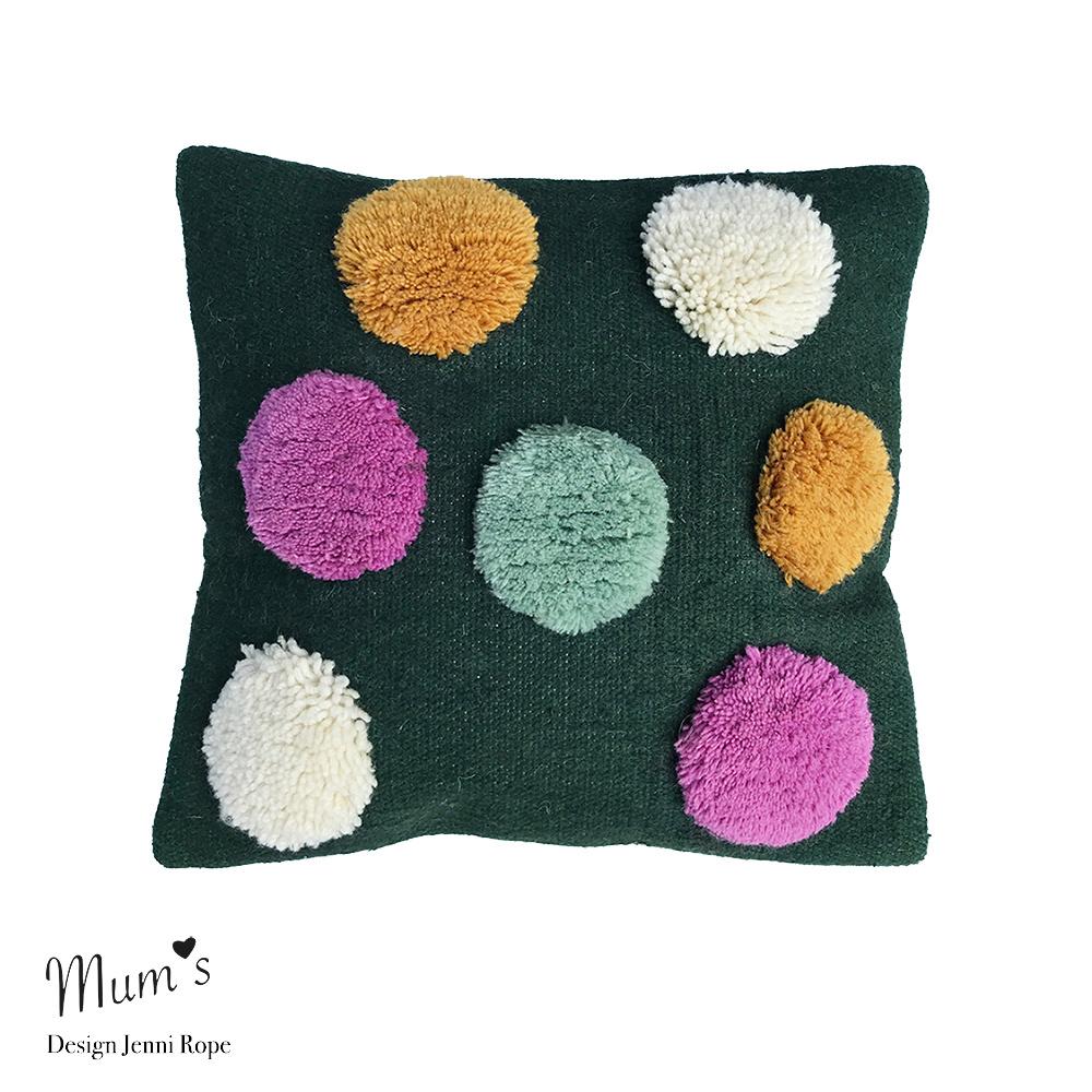 "Wool pillow case ""Rainbow mix"" 45x45 cm"