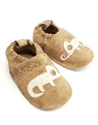 "Kids Slippers ""Chameleon""  made of vegan corc fabric"