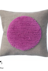 "Wool pillow case ""One Pink"" 45x45 cm"