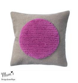 "MUM'S / Wool pillow case ""One Pink"" 45x45 cm"