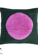 "Wollkissenbezug ""One Pink on Green"" 45x45 cm"