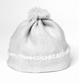 knitWORKS / Baby Beanie-Mütze hellgrau