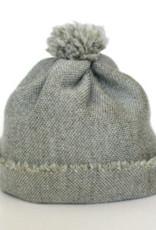 Baby Beanie-Mütze hellgrün aus feiner Merinowolle