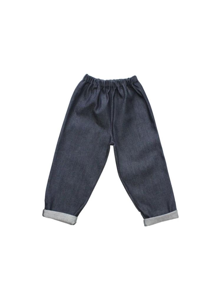 Kids Jeans  indigo blue with back pocket