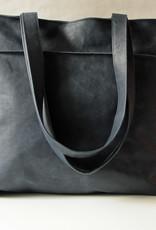 """""""Shopper"""" blaufarben aus Rentierleder 42x38cm"""