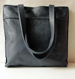 """OMPELUS /  """"Shopper"""" blaufarben aus Rentierleder 42x38cm"""