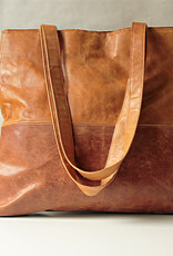 """""""Shopper"""" brown-colored in reindeer leather 38x36cm"""
